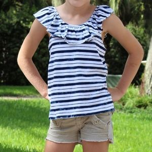 Splendid Sleeveless Striped Girls' Shirt
